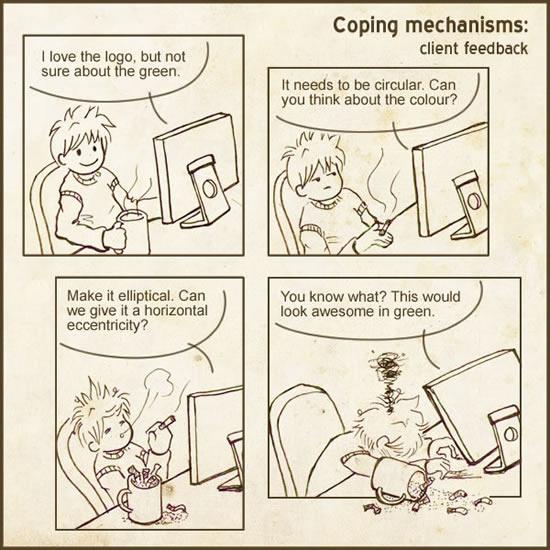 Coping mechanisms: client feedback